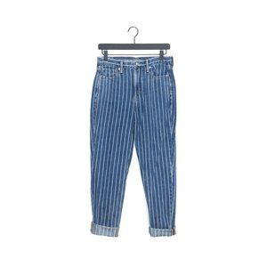 American Eagle Striped Mom Jeans High Waisted 4